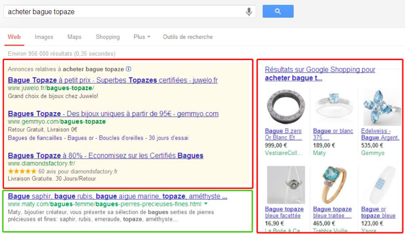 google réferencement naturel e-Commerce