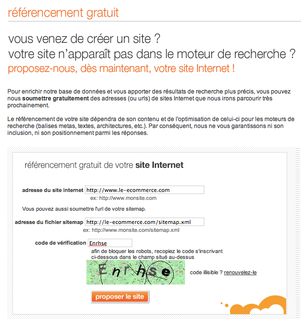 referencement site e-Commerce orange illustration