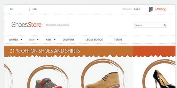 themes prestashop gratuit shoes